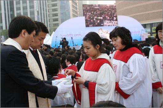 2009 부활절 연합예배에서