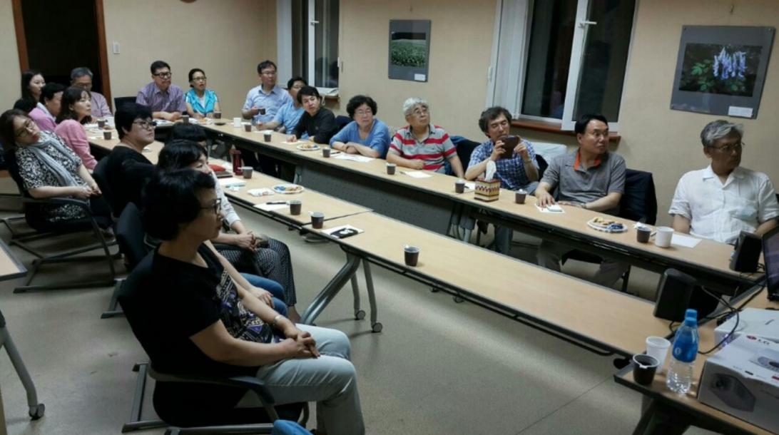손니치 문화 센터에서 교수선교회 선교 전략 모임 (2015년 7월 11일)
